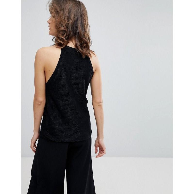セレクテッド オム レディース トップス【Selected Femme Sleeveless Knitted Top】Black