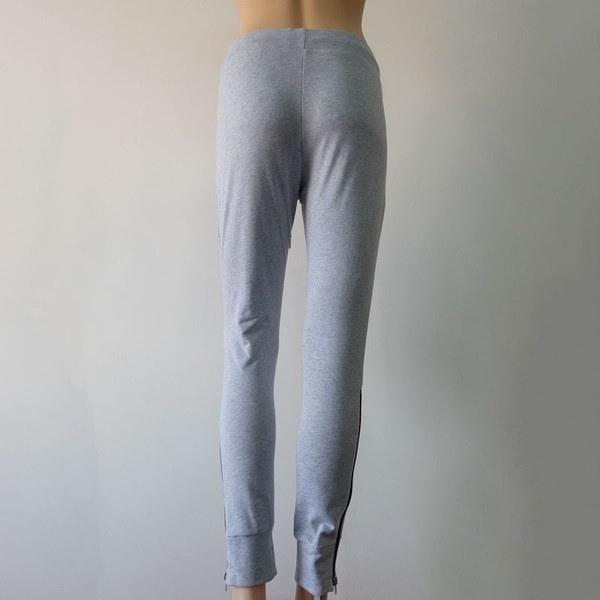 PYPY Women Sweatpants Joggers Sport Dance Lace Up Long Trousers Sexy Leg Zipper Pants ORG