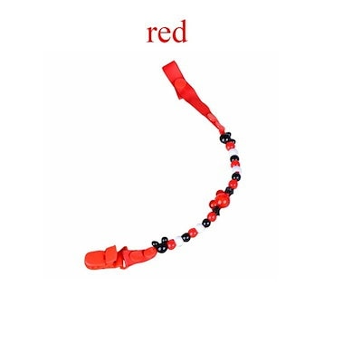 Baby Dummy Pacifier Clip Chain Beads Toy Teether Holder Attache Clip Soother Nipple Strap Leash Stra