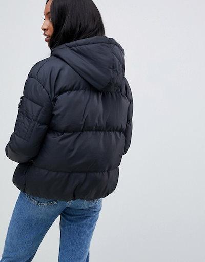 ブレイブソウル レディース コート アウター Brave Soul Tall karen padded coat with hood