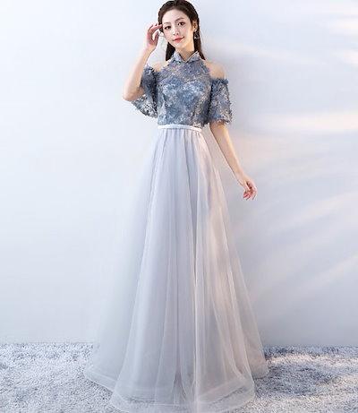 パーティー 結婚式 披露宴 二次会 お呼ばれ フォーマル ドレス ワンピース 秋冬新作 20代 30代 40代 大人 CGMS000850
