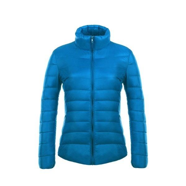 女性ウルトラライトダウンジャケットフード付きウィンターダックダウンジャケット女性スリムロングスリーブパーカージッパーCo