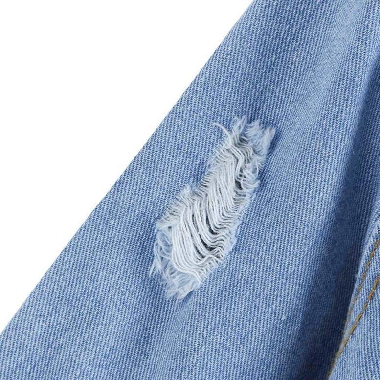女性秋冬デニムジャケットヴィンテージロングスリーブルーズジーンズコートアウターウェア$$