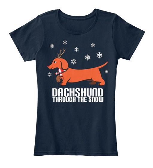 面白いアグリーセーターダックスフードThの女性のプレミアムティーTシャツ