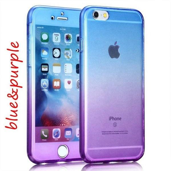 iPhone X 360 Degreeカバレッジスマートタッチスクリーンフロント+バックiPhone 5 / 5S用フルTPUクリアケース
