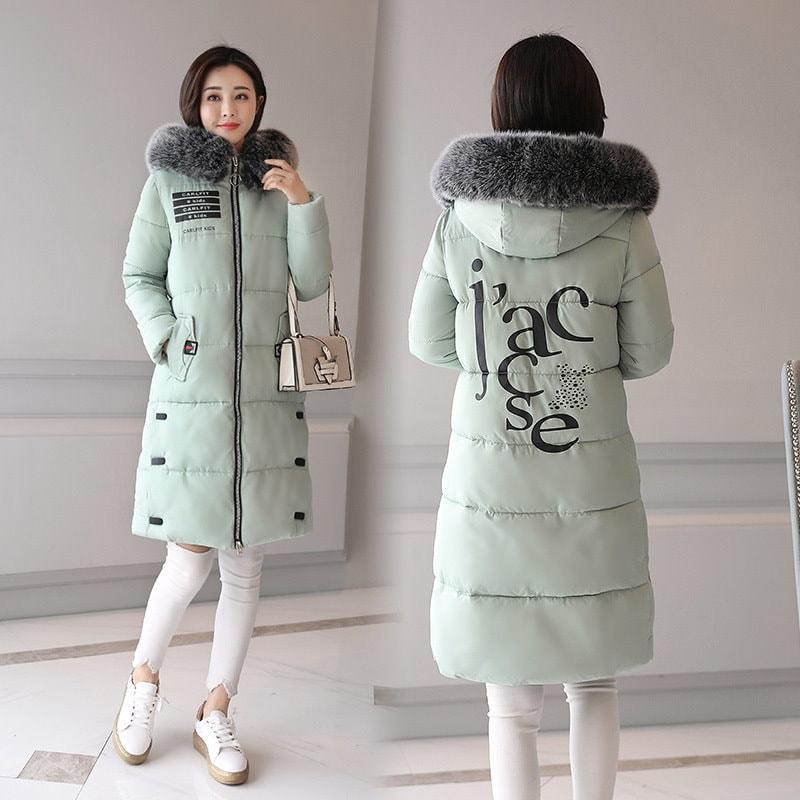 女性の冬のコートのファッションフード付きの増粘スーパー暖かいミディアムロングパーカーロングスリーブルーズジャケット