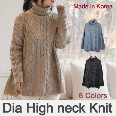 [something]Twisted Pattern Turtle Knit ★ Direct From korea/High Quality/Women Office Wear/Korea Styl