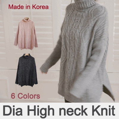[something]Twisted Pattern Turtle Knit ★ Direct From korea/High Quality/Women Office Wear/Korea Styl