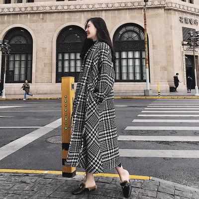 レトロ ラシャコート チェック柄 韓国ファッション エレガント 気品  アウター   ママ レディース おしゃなコート スプリングコート