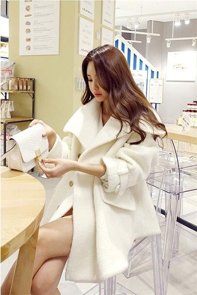 55555SHOP[55555SHOP]✨2018新柄追加✨ 韓国ファッション 気質 ダブルボタン コート