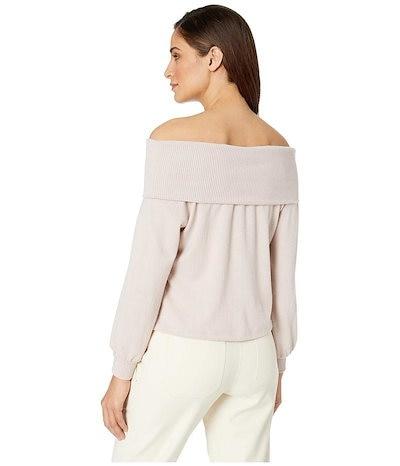 ワンステイト レディース シャツ トップス Fold-Over Off Shoulder Brushed Jersey Top