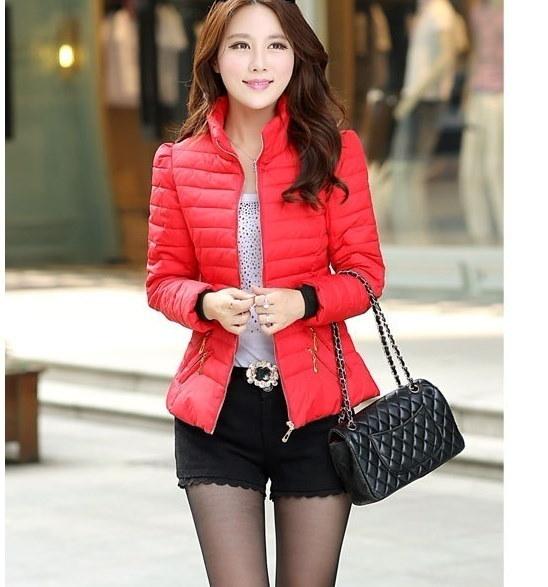 2016年の女性の新しいファッション短い段落のコートの女性の韓国のすべての一致スリムダウン