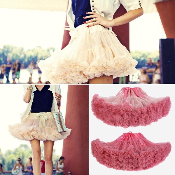 ファッションふわふわレディースPettiskirtティーンエイジャーガールアダルトレディースTutu Dance Wear PartyふわふわスカートワンSiz