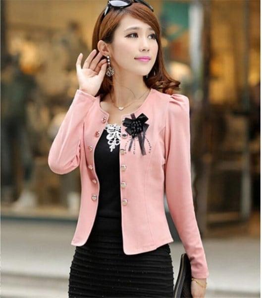 2017新しい韓国スタイルのスリムスーツ女性のブレザーシューズコートファッションプラスサイズXL XXL XXXL