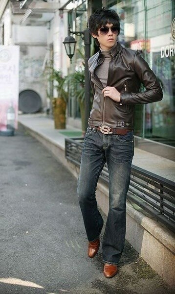 Hot New Long Sleeve Zipper PU Jacket With Pocket