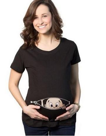 ファッション妊娠カジュアルトップスグラビダマタニティルーズTシャツ妊娠中の服