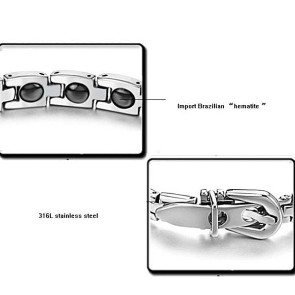 ファッションメンズレディースチタン鋼磁気バックルブレスレット