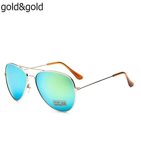 女性の屋外UV400サングラスポイント女性メガネパイロットクールシェード男性ファッションドライアイウェア