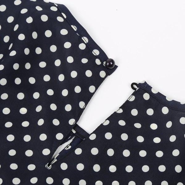 Women Blusas Femininas Blusa De Renda Polka Dot Vintage Chiffon Ladies Blouse Tops Long Sleev