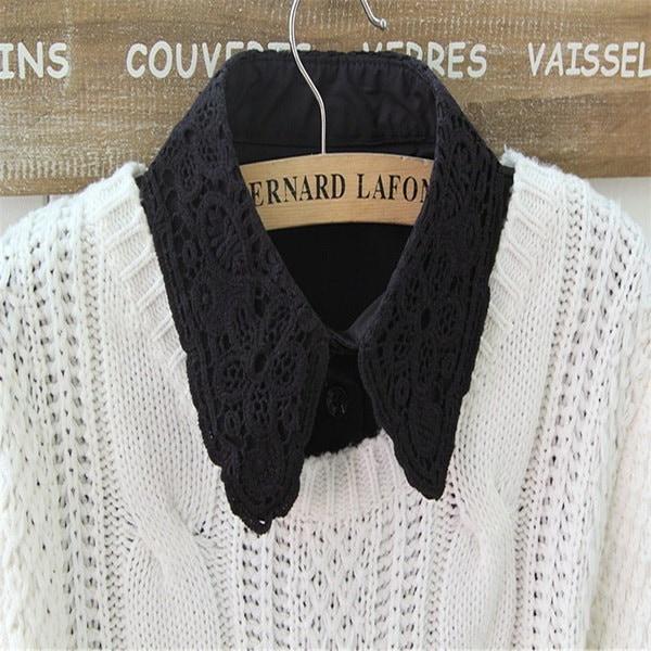 1本の女性のレース偽の偽のシャツの襟の装飾取り外し可能な首輪服飾アクセサリー
