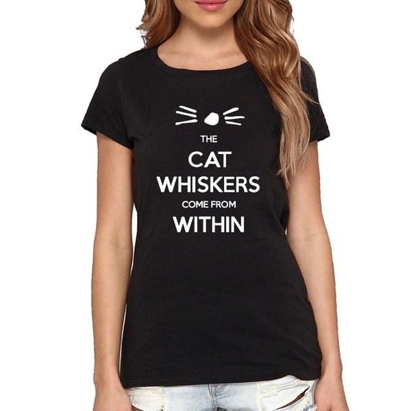 ダンとフィル猫ウィスカーは女性の中から来るTshirtカジュアル綿ヒップスターは面白いTシャツ