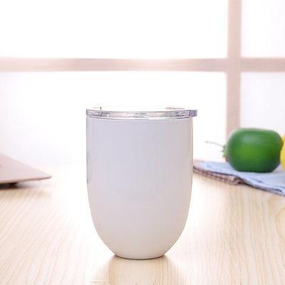10オンスのエッグカクテルタンブラーワインカップステンレススチールメタルゴブレットマグカップ