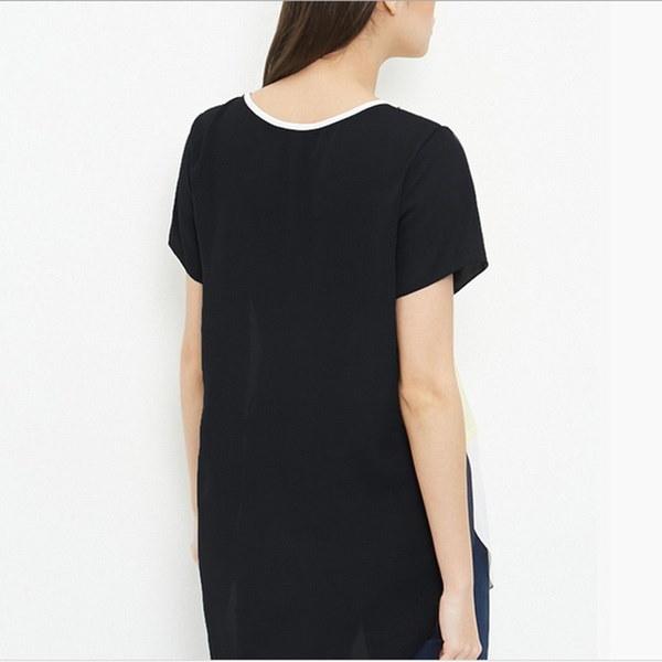 女性夏のOネックルース半袖シフォンシャツレジャートップブラウスプラスサイズXS  -  6XL