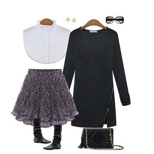 春秋の女性のカジュアルルーズジッパーシャツ長袖のOネックブラウスのチュニックトッププラスサイズ