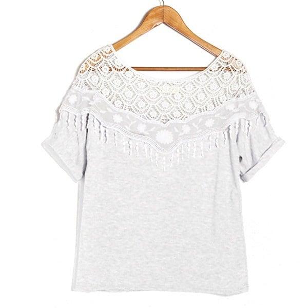 2015年夏のファッション女性スエーテロングスリーブシフォンちょう結びシャツホットセールカジュアルOネックドットブラウス