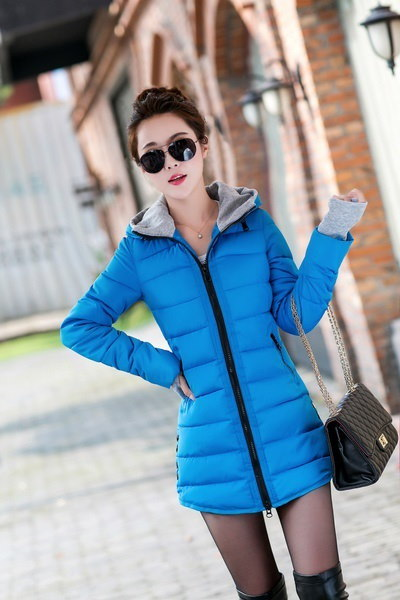 女性のコットンパッド入りジャケット2017冬ミディアムダウンコットンプラスサイズジャケット女性スリムレディース