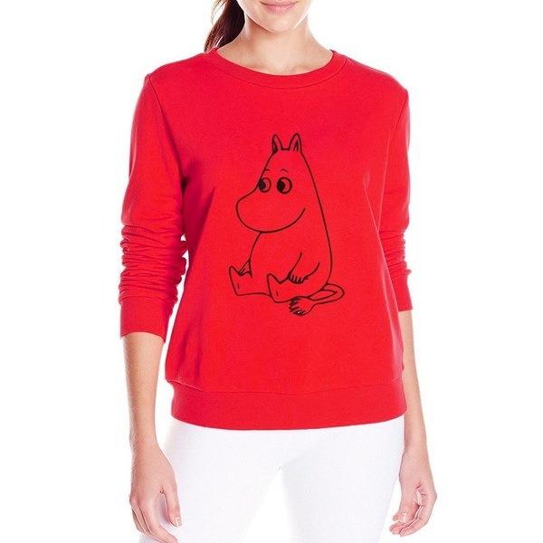 女性ファッションカバのプリントロングスリーブセーター