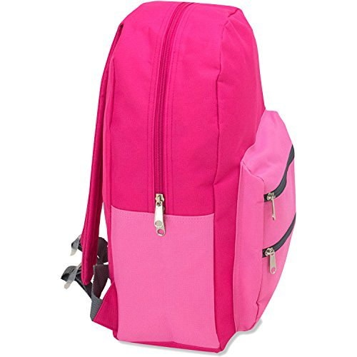 Full Size Dome Backpack With Double Zippered Pocket 17 Inch-  polo