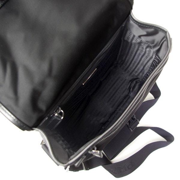 プラダ PRADA バッグ メンズ ショルダーバッグ テスート サフィアーノ NERO ブラック TESSUTO+SAFFIANO2VD770