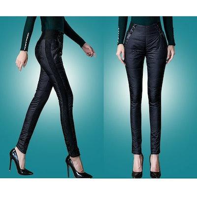 暖かい女性のパンツ2017冬のカジュアルなスキニーブラック厚いダブルアウターウェアレーススリムフィットネスペンシルダックパンツ女性のズボン