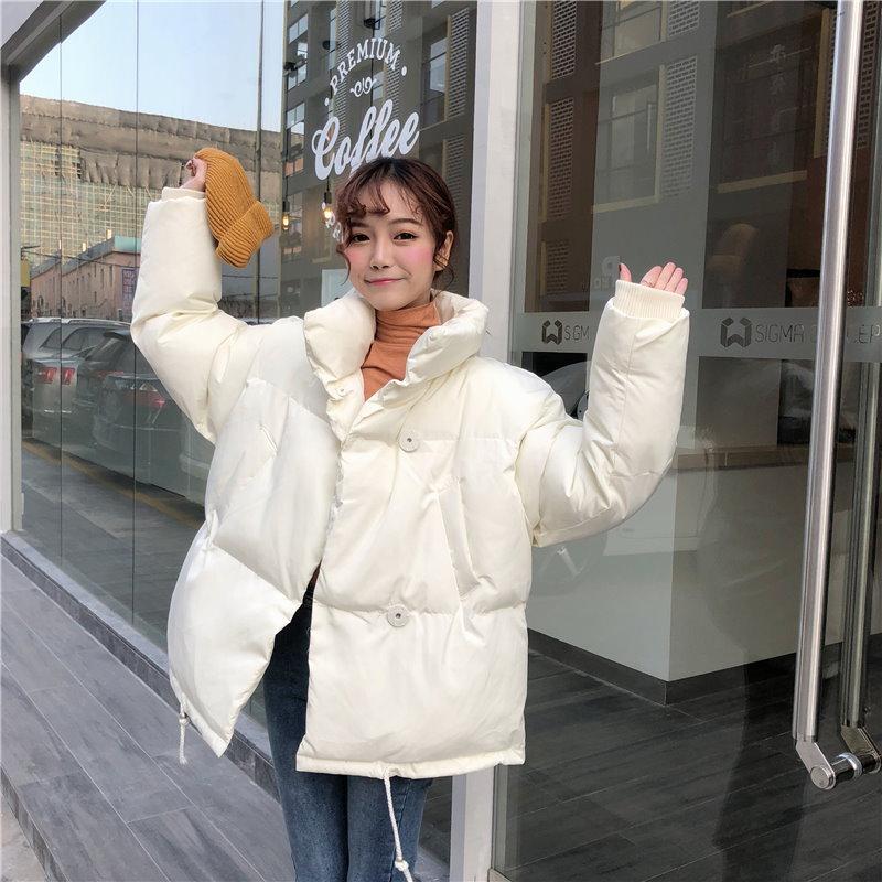 45678(韓国ファッション)可愛い♪ソリットカラー ダウンジャケット ショート丈
