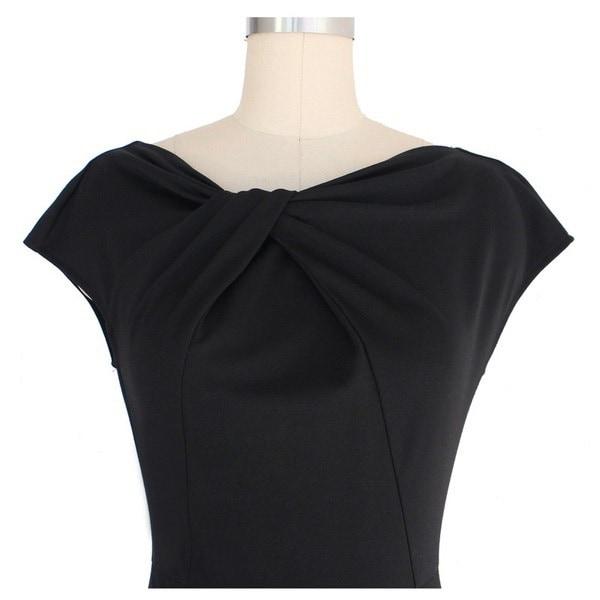 Elegant Formal Evening Party Dresses Plus Size Solid Lace Hollow Out O-neck Women Summer Vintage Dre