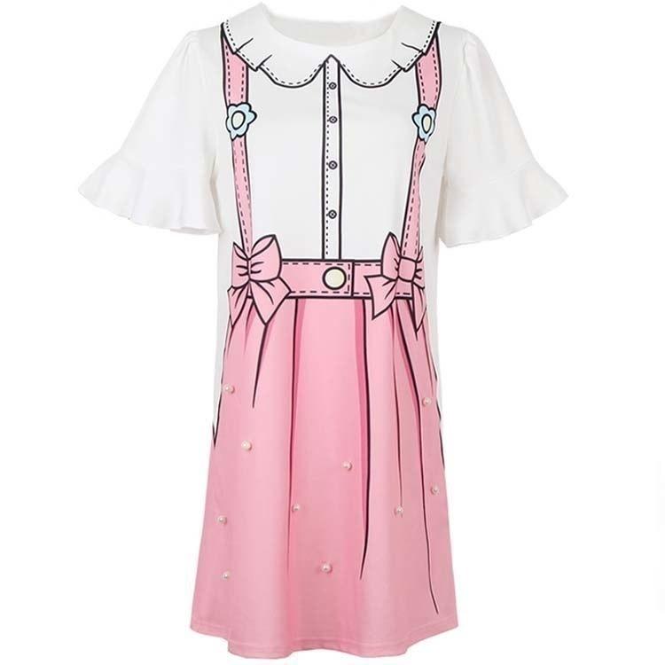 ロリータ風 ワンピース 二次元 ワンピース LOLITA 洋服 ロリータ お姫様風 レディース