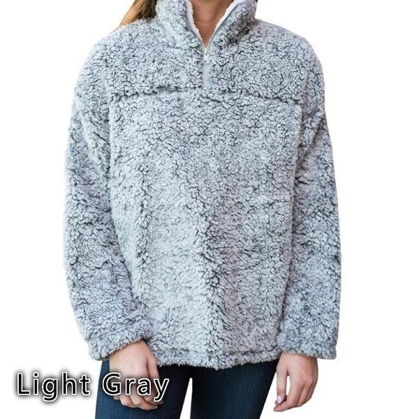 女性の冬のファッションロングスリーブ1/2ジッパー暖かいウールセーターのトップス