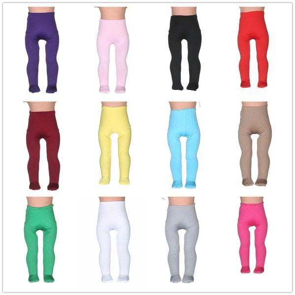 14differentcolorsタイトパンツは18インチに合うアメリカの女の子の人形ベビードール服アクセサリーHandmad