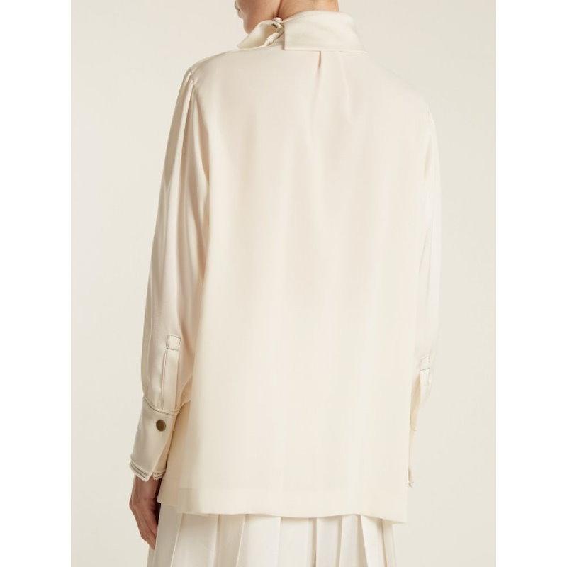 ソニア リキエル レディース トップス ブラウス・シャツ【High-neck crepe shirt】Cream