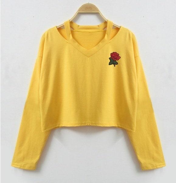 ファッションレディースロングスリーブスウェットシャツ