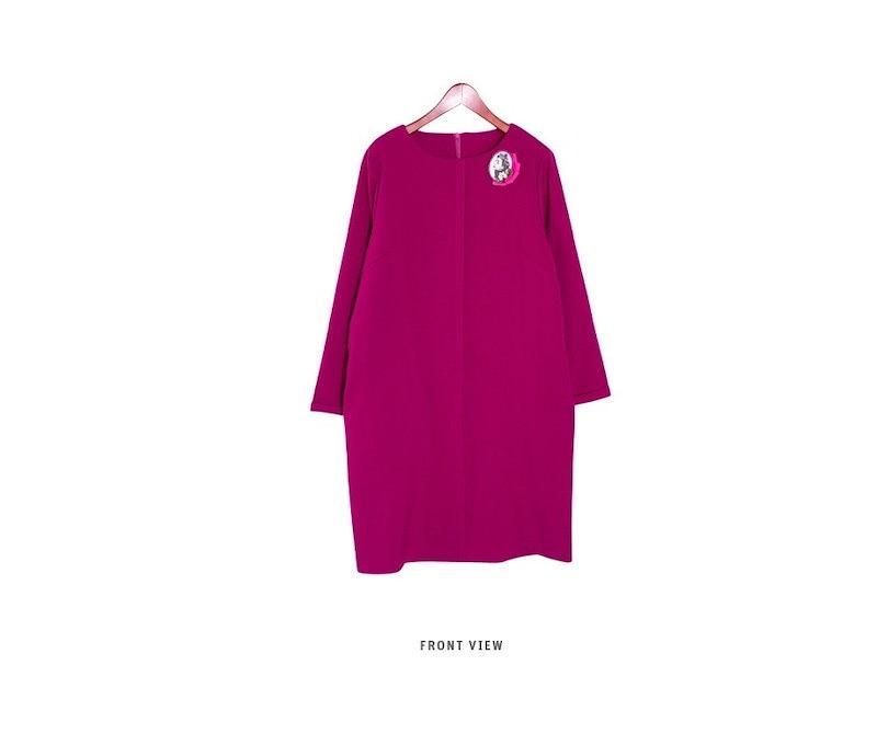 『韓国製』SELLISHOP  Elizab ワンピース「大きいサイズ 大人 韓国 ファッション・結婚式・フォマール 黒 フレア 30代 40代 50代 スレンダー・Aライン,上品・ロング ミセス X