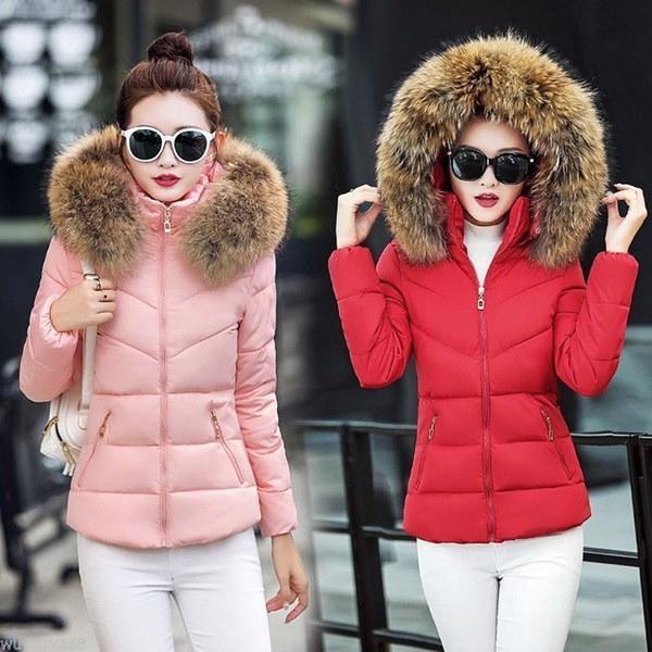 女性ウィンターコートレディースアウトレットファージャケットロングコットンパッド入りジャケット秋冬ロングスリーブフード