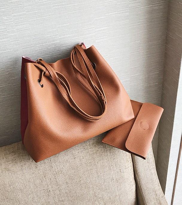 爆款2件をつづり合わせて2017新型色カバー母バッグ、欧米風携帯パッケージ単に肩