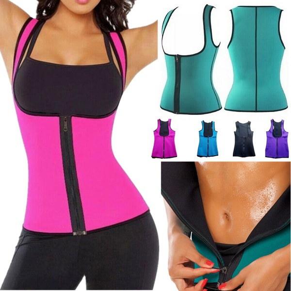 女性の汗強化ウエストトレーニングコルセットウエストトレーナーサウナスーツホットシェイパースポーツベスト