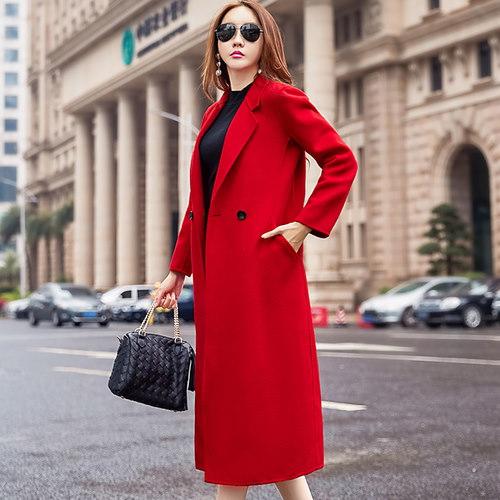 ラシャコート スリム Vネック 防寒保暖 厚手 無地 ダブルブレスト ファッション イギリススタイル
