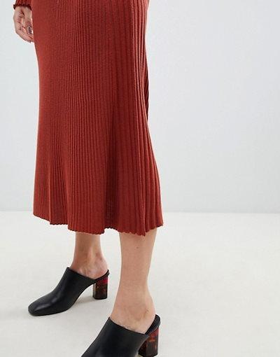 エイソス レディース スカート ボトムス ASOS DESIGN two-piece midi skirt in fine rib knit