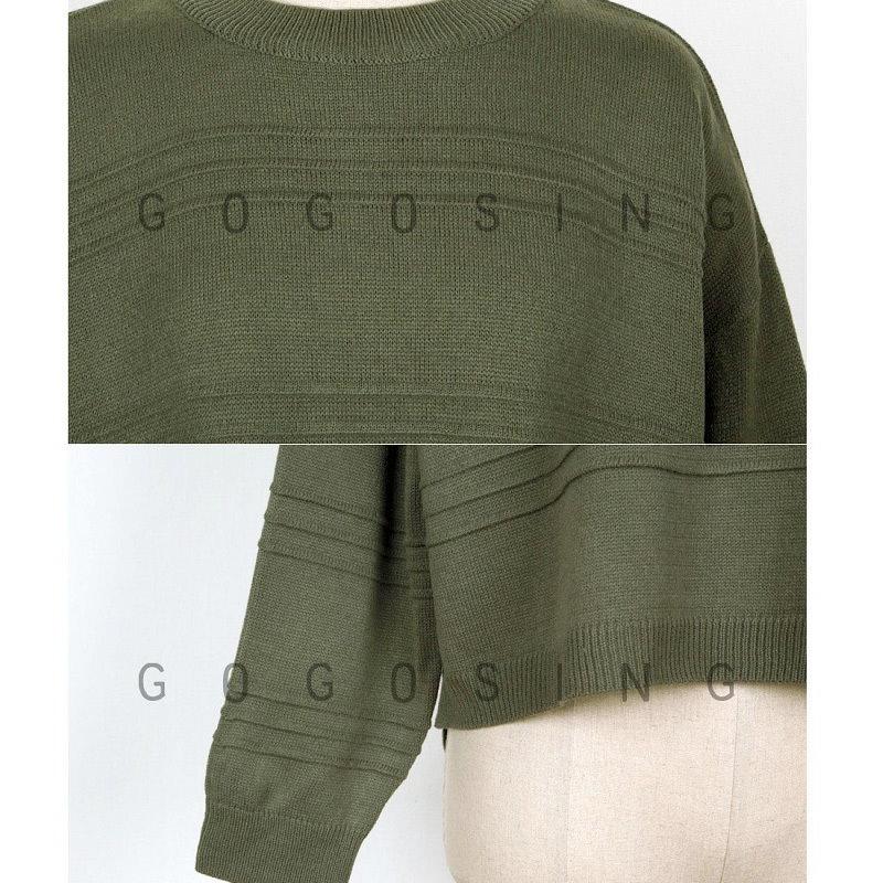 【GOGOSING】立体ラインポイント7Gルーズニットggs-p000bszl 韓国ファッション 韓国ファッション ニット ニットセーター  ドルマン トップス レディー