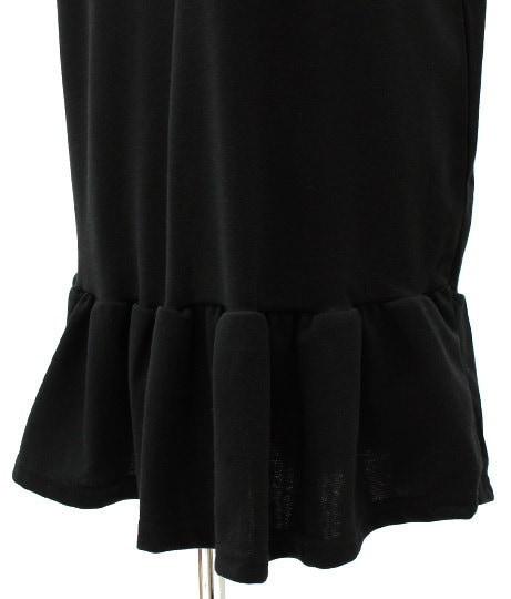 NETオリジナル スカーフ付裾フリルワンピース