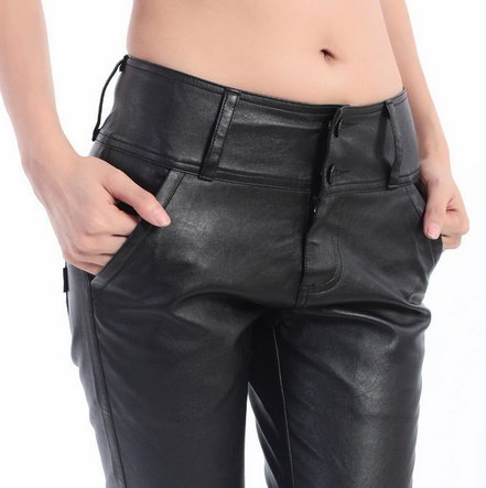 G160101-4 NEW spring pu leather pants womens Autumn pencil trousers for woman ,Personalized Sexy for